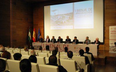 El ministro de Cultura inaugura la I Bienal de Arqueología, organizada por Construcciones Calderón y la UJA