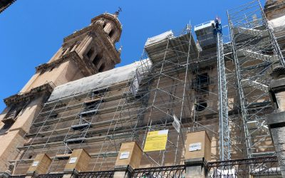 Construcciones Calderón trabaja en la rehabilitación de las cubiertas de la Catedral de Jaén