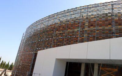 Visita institucional a las obras del palacio de deportes «Olivo Arena», que construye Construcciones Calderón junto a Acciona y Solar Jiennense