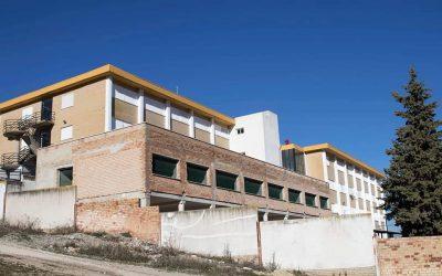 Obras de ampliación del Instituto de Enseñanza Secundaria Ostippo de Estepa (Sevilla)